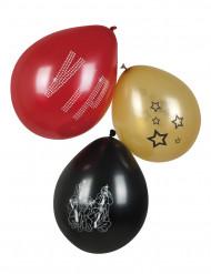 6 balões VIP 25 cm