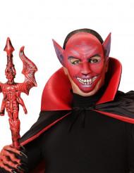 Máscara demônio vermelho adulto Halloween