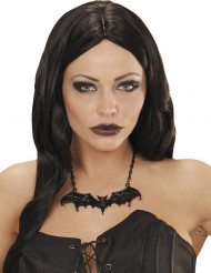 Colar morçego preto adulto Halloween