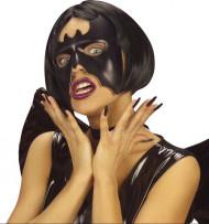 Semi máscara morcego mulher Halloween
