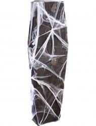 Caixão com teia de aranha 160 cm Halloween