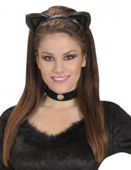 Bandolete orelhas de gato preto adulto