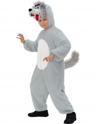 Disfarce lobo para criança cinzento