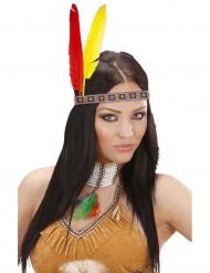 Bandolete índia com penas adulto