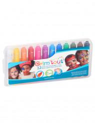 Caixa com 12 lápis de maquilhagem coloridos Grim