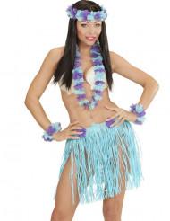Kit havaiano azul e roxo adulto