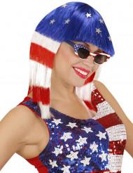 Peruca miss américa mulher