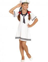 Disfarce marinheiro branco menina