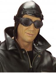 Chapéu aviador preto adulto