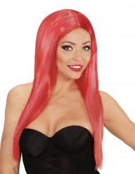 Peruca cabelos compridos vermelhos mulher