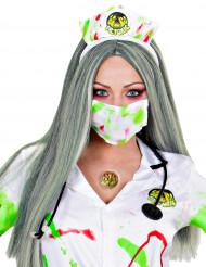 Falsas feridas tóxicas com cola Halloween