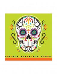 16 Pequenos guardanapos de papel Dia de los Muertos