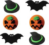 6 Decorações de açúcar Halloween
