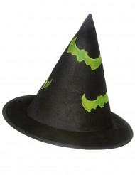 Chapéu de bruxa reflexivo criança Halloween