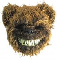 Máscara urso assustador peludo adulto Halloween