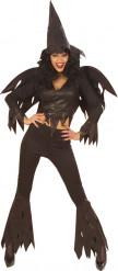 Disfarce bruxa engraçada preta mulher Halloween