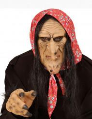 Meia máscara bruxa adulto
