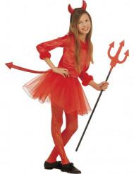 Disfarce pequeno diabo vermelho tutu rapariga Halloween