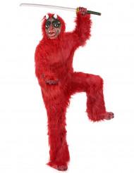 Disfarce diabo vermelho luxo adulto Halloween