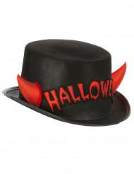Chapéu alto com cornos adulto Halloween