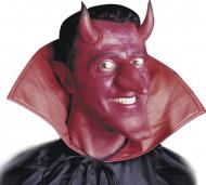 Cornos diabo vermelho com cola adulto Halloween