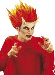 Cornos demônio com cola adulto Halloween