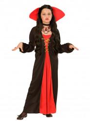 Disfarce condessa com gola menina Halloween