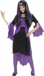 Disfarce vampiro roxo rapariga Halloween
