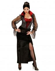 Disfarce vampiro renda mulher Halloween