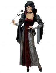 Disfarce vampiro condessa luxo mulher Halloween