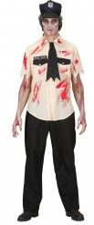 Disfarce zumbi policia homem Halloween