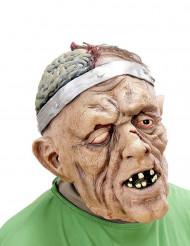 Máscara paciente operado da cabeça adulto Halloween