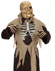 Máscara zombie com um olho adulto Halloween