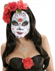 Máscara colorida dia de los muertos