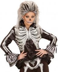 Camisa esqueleto mulher Halloween