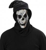 Carapuço esqueleto sequins adulto Halloween