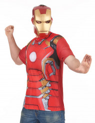 T-shirt e máscara adulto Iron Man™ movie 2