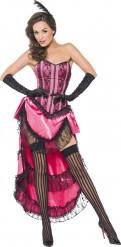 Disfarce de dançarina de cabaret em rosa Sexy