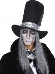 Gravata borboleta esqueletos adulto Halloween