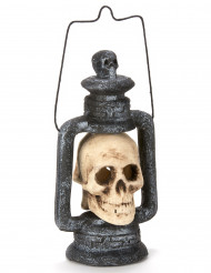 Lanterna caveira luminosa 35 cm Halloween