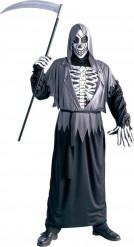 Disfarce esqueleto segador das trevas adulto Halloween