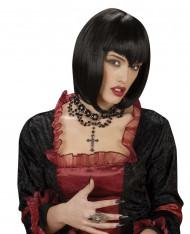 Colar rente ao pescoço pendente cruz mulher Halloween