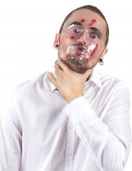 Máscara buraco de bala adulto