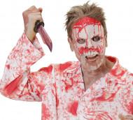 Semi máscara psicopata sangrento adulto Halloween