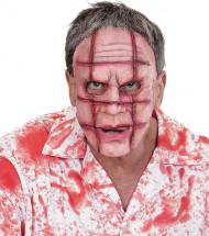 Máscara cicatrizes adulto Halloween