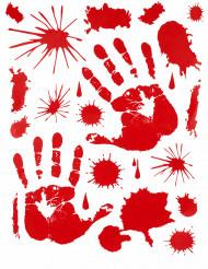Adesivos Mãos ensanguentadas Halloween
