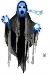 Decoração segador das trevas luminoso sonoro 153 cm Halloween