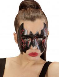 Semi máscara morçego ensanguentado mulher Halloween