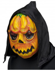 Máscara abóbora com capucho adulto Halloween
