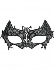 Mascarilha rendilhada morcego mulher